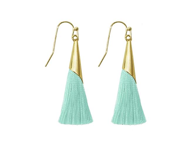 18c449dd0 Silk Tassel Earrings – Turquoise | Edith & Jaz